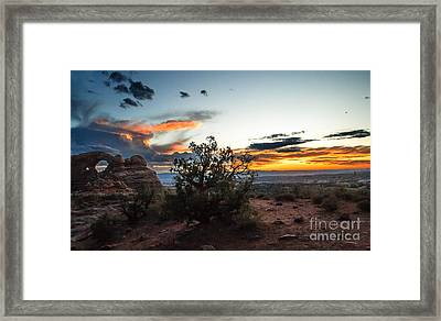 Sunset At Turrent Arch Framed Print by Robert Bales
