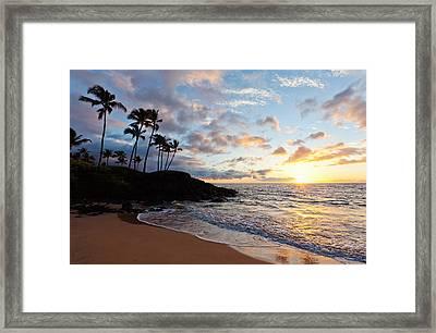 Sunset At Ulua Beach Framed Print