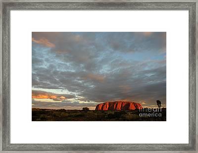 Sunset At Uluru Framed Print by Vivian Christopher