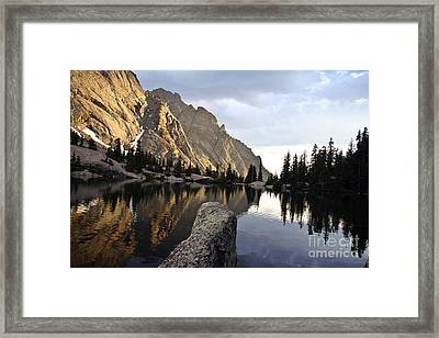 Sunset At Willow Lake Framed Print by Scotts Scapes