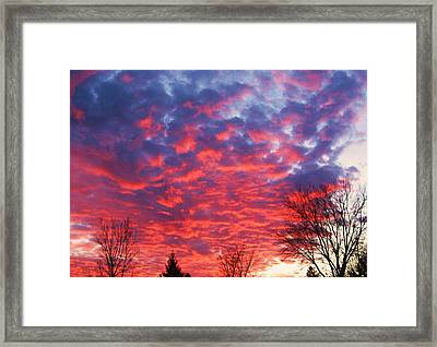 Sunset Framed Print by Barron Peterson