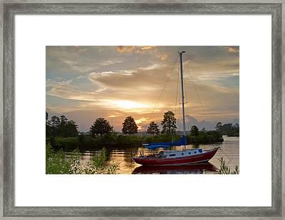 Sunset Bay Framed Print by Diane Carlisle