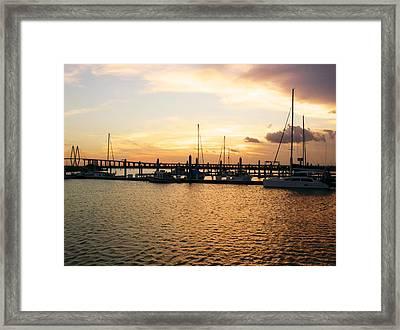 Sunset Bay Framed Print