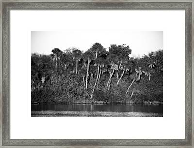 Sunset Black And White Framed Print by Rich Franco