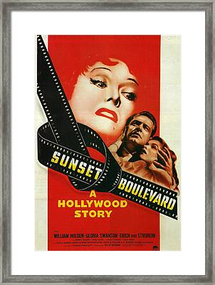 Sunset Boulevard Framed Print by Georgia Fowler