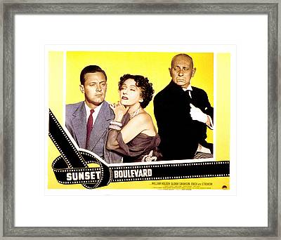 Sunset Boulevard, William Holden Framed Print