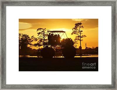 Sunset Buggy Framed Print by Lynda Dawson-Youngclaus