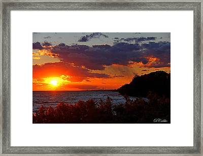 Sunset By The Beach Framed Print