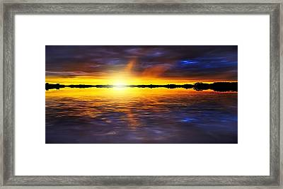 Sunset By The River Framed Print by Svetlana Sewell