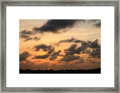 Sunset Framed Print by Catie Canetti