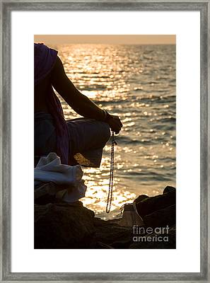 Sunset Chanting Of The Name Of God Framed Print