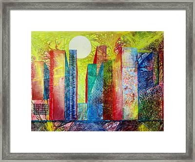 Sunset City Framed Print by David Raderstorf