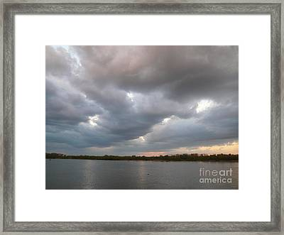 Sunset Clouds Framed Print by Alisa Tek