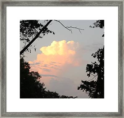 Sunset Clouds Framed Print by James Collier