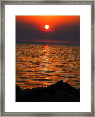 Framed Print featuring the photograph Sunset by Colette V Hera  Guggenheim