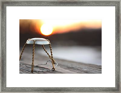 Sunset Cork Cage Framed Print by Robert Rizzolo