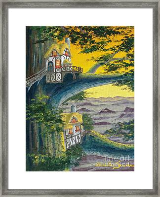 Sunset Cottage From Arboregal Framed Print
