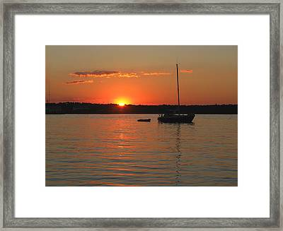 Framed Print featuring the photograph Sunset Cove by Clara Sue Beym