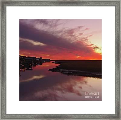 Sunset Creek Framed Print by Thomas Lovelace