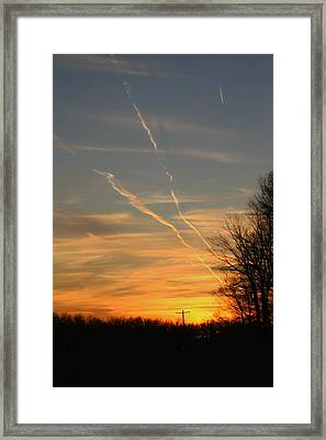 Sunset Cross Framed Print
