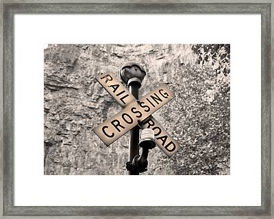 Sunset Crossing  Framed Print by Betsy Knapp