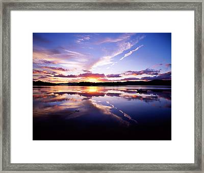 Sunset, Dinish Island Kenmare Bay Framed Print