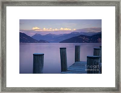 Sunset Dock Framed Print by Brian Jannsen