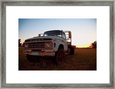 Framed Print featuring the digital art Sunset Dodge by Serene Maisey