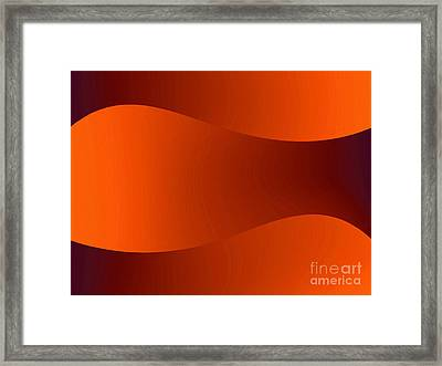 Sunset Dunes Framed Print