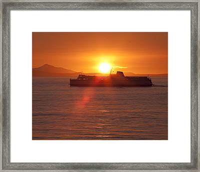 Framed Print featuring the photograph Sunset by Eunice Gibb