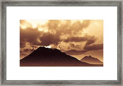 Sunset Fiction Framed Print