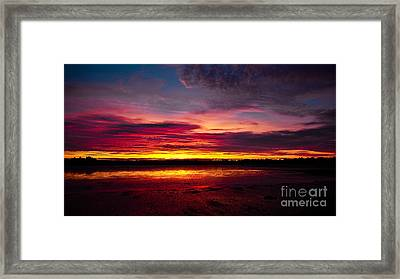 Sunset Fire In The Sky Framed Print by John Buxton