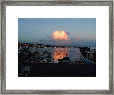 Sunset From Anzio Framed Print