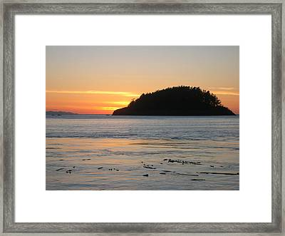 Sunset From Deception Pass Framed Print