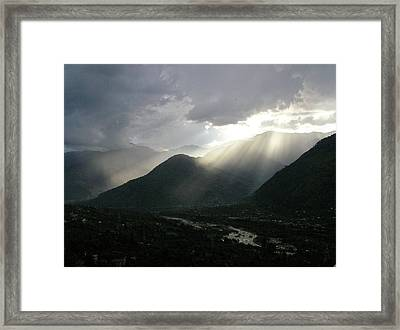 Sunset From Naggar Framed Print by Mayank M M Reid