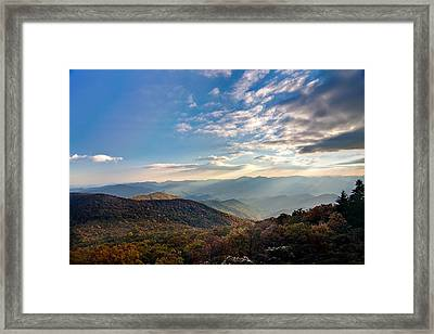 Framed Print featuring the photograph Sunset From The Bald by Dan Wells
