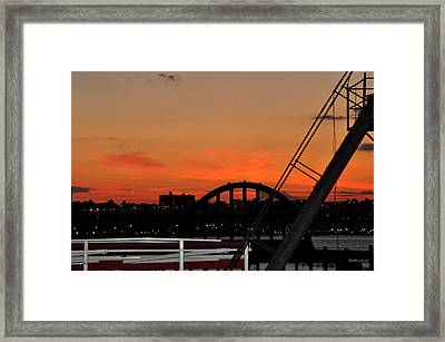 Framed Print featuring the photograph Sunset From The High Line In New York City by Diane Lent