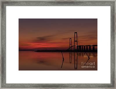 Sunset Great Belt Denmark Framed Print