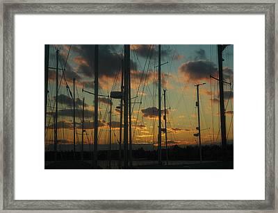 Sunset Harbor Framed Print by Rafael Figueroa