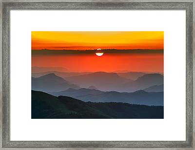 Sunset In Balkans Framed Print by Evgeni Dinev