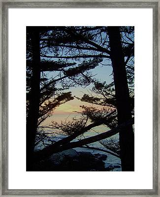 Sunset In Carmel Framed Print