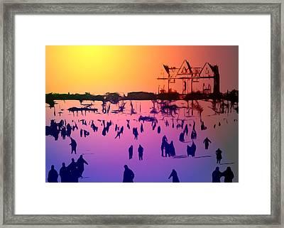 Sunset In Central Park Framed Print by Steve K
