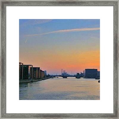 #sunset In #copenhagen Framed Print