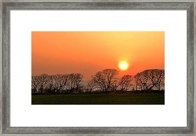 Sunset In Dingle Framed Print by Barbara Walsh