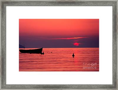 Framed Print featuring the photograph Sunset In Elba Island by Luciano Mortula