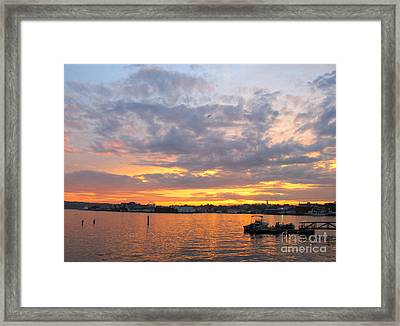 Sunset In Glouchester Framed Print by B Rossitto