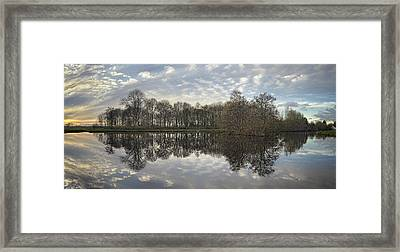 Sunset In Het Donkereindse Bos Framed Print by Marijke Mooy Photography