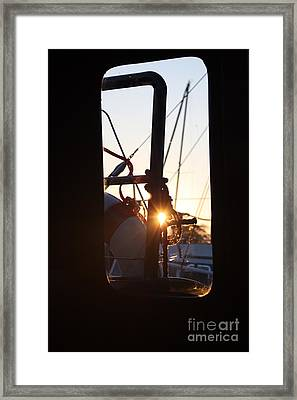 Sunset In Holland Framed Print