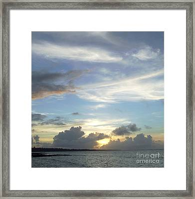 Framed Print featuring the photograph Sunset In Majuro by Andrea Anderegg