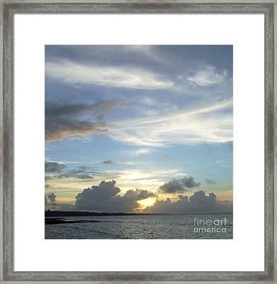 Sunset In Majuro Framed Print by Andrea Anderegg